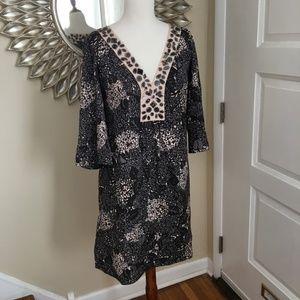 Rebecca Taylor silk & cotton caftan style dress